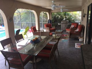 CANAL HOME!  WARM PRIVATE POOL! FAMILY MEMORIES!  WIFI!  GRILL!  BABY SUPPLIES!