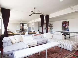 A stunningly converted warehouse in Athens city centre with great views!