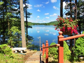 INCREDIBLE LAKE FRONT HOUSE AND DOCK ON LAKE BUEL.SWIM FISH BOAT
