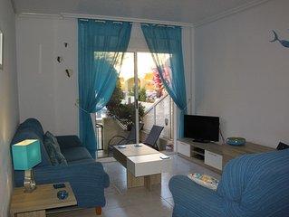 Ground Floor, Pool Facing, 2 Bed 2 Bath Apartment, Los Alcazares, Nr Beach WIFI