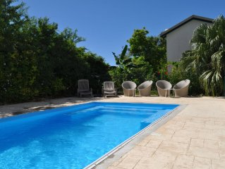Villa with pool Sainte Anne in Guadeloupe, quiet, close to beaches