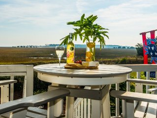 Large Deck with Awesome Ocean & Marsh View! Free WiFi! Free Hunting Island pass!