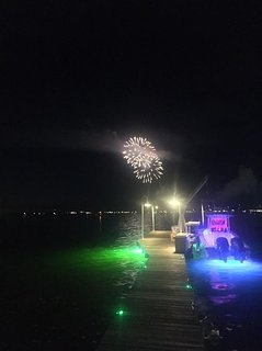 New year's and 4th of July Fireworks from pour bay