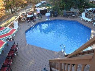DUCK CREEK RETREAT - Remodeled 5 BR, 4 BA, Sleeps 32, Private Pool, Hot Tub!!!