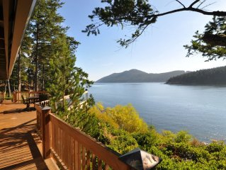 Exquisite Orcas Island Custom Home with Private Beach