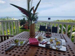 Villa Mija on Bouillante Gite standing 100 meters from the beach, sea view.