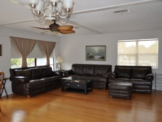 Gulf Access Waterfront Fully Furnished Home With Dock