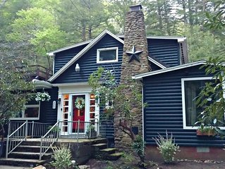 Serene Mountain Cottage on banks of McCullen Run Stream