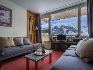 3 pieces soigne et ensoleille dans residence calme, superbe vue sur montagne
