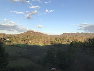 Asheville's Rural Masterpiece, Private, Mountain Views Yet Minutes Asheville