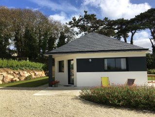 Beautiful new house at 2 minutes walk from the sea and the beach