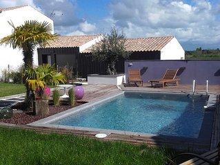 Studio indépendant avec beau jardin et  PISCINE sur l'île d'Oléron