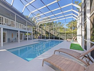 Spacious beach house sleeping 13 with private heated pool and hot tub