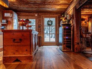 Elegant beautiful quaint Kitzbuhel wooden chalet with a large sunny garden