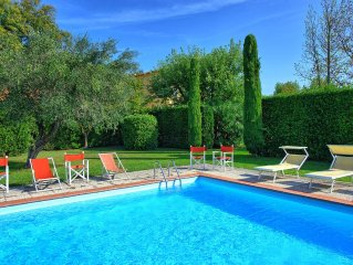 Air-conditioned villa with private swimming pool, located close to town