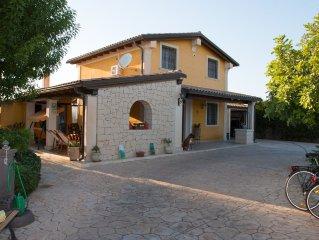 Stylish Sicilian Villa with private pool near the Beach.
