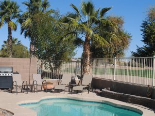3BR Home with Heated Private Pool, Golf, & Mountain Views