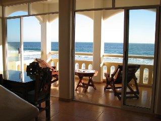 Enchanting Beachfront 2 bedroom,  2 bath condo in Zipolite, Oaxaca