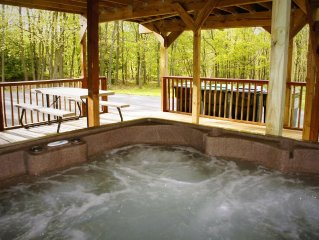 Comfortable six bedroom home with a Hot Tub, a Game room, two decks and a wood