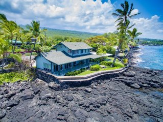 Oceanfront Hoku Ea Private House on Kahaluu Bay w/SPA