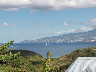 VILLA BELLE VUE ,vue panoramique sur la baie de fort de france
