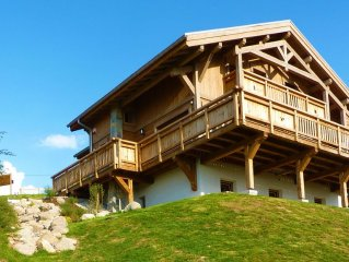 The new chalet Gerardmer Top Meix, panoramic view, wifi, sauna, south, near tra