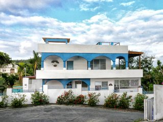 Villa with Private Pool, Panoramic Ocean Views, 5 bedrooms, Acre of Grounds