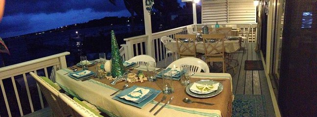 Dining on back porch