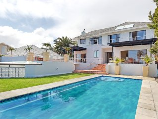 A contemporary home with a pool a minute from Camps Bay Beach