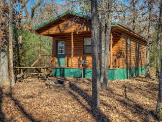 Eagle Egg cabin is a quaint 2 bedroom cabin nestled in the tall pines.