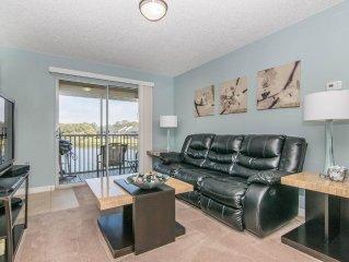 Living Room with wonderful Lake Views