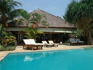 Modern, Luxury and Spacious Beach front Villa with Private Pool & Staff