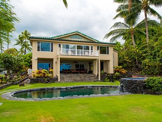 Hale Lihikai Moana Combo - Lava rock pool/ Jacuzzi/ Ocean views/ Walk to Beach