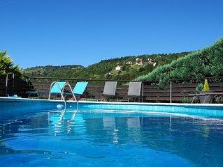 Grand gite de 6 chambres avec piscine et sauna a la Bresse