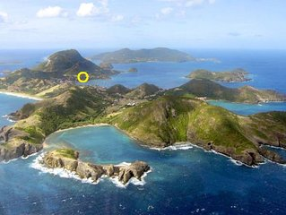 Les Saintes Terre De Haut: Maison avec piscine vue d'exception sur la baie des S