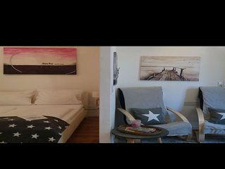 Ferienwohnung 8, 30qm, 1 Schlafzimmer, 1 Wohn-/Schlafzimmer, max. 2 Personen