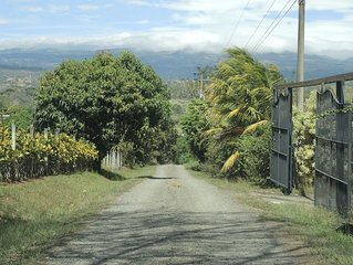 THE PRIVATE ROAD GOES 500 METERS TO YOUR CASITA CHIQUITA