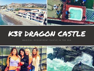 K38 Ocean Front DRAGON CASTLE- 3 stories, sleeps 25!