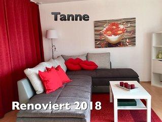 ' Tanne ' Sonnige, sehr gemütl., moderne FeWo mit schöner großer Terrasse /Wlan