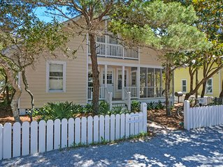 In Seaside Proper 'Carey Cottage' is 5 houses up from the beach - Sleeps 8!