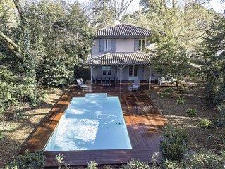Superbe Villa ' Casa Anna' avec piscine au Moulleau, plage a 250m - Arcachon