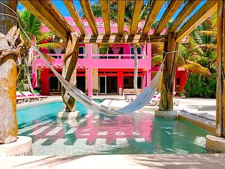 Riviera Maya Haciendas - Villa Alma Rosa BEACHFRONT, 8 GUESTS, FULLY STAFFED &A/