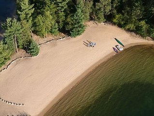INCREDIBLE Private Sand Beach, Cozy Cabin, Crystal Clear Water, Perfect for Kids