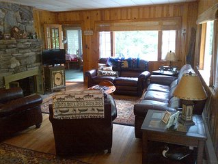 Lake George Cabin with private beach, patio, deck and all amenities!