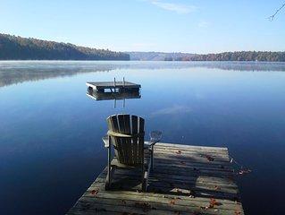 Log Cabin on Quiet Lake