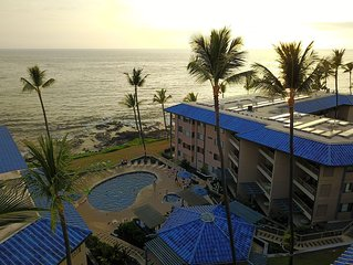 B5-Oceanfront & Ocean View at Kona Reef- With Pool/Spa 5 mins walk to town!