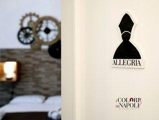 I Colori di Napoli    Appartamento Design con  TERRAZZO 3 Camere Centro Antico