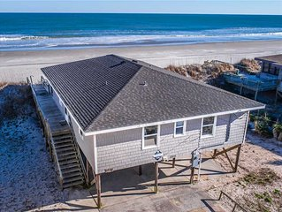 Incerto's Rebel Inn: 4 Br / 2 Ba Oceanfront In Topsail Beach, Sleeps 8