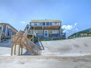 Luna Escape: 4BR/2.5BA Oceanfront 1 mile north of downtown Surf City, Sleeps 8