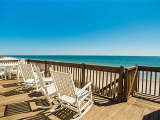 CAROLINA BREEZE: 4 BR / 3 BA oceanfront in Surf City, Sleeps 11